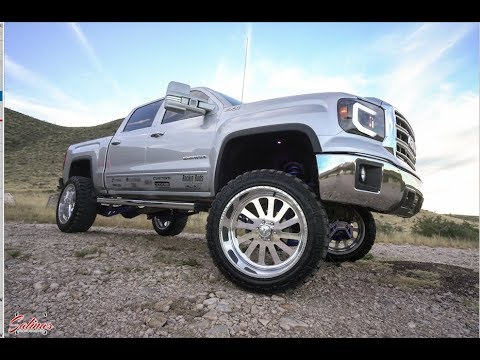 NEW MEXICO LIFTED TRUCKS! 2014 GMC SIERRA ON A 9 INCH LIFT KIT WITH 24X12 AMERICAN FORCES!