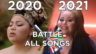 Eurovision 2021 Battle VS 2020 - All Songs (my opinion)