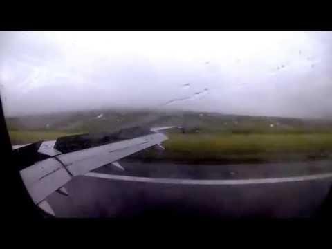 Landing On Faroe Islands In Heavy Rain