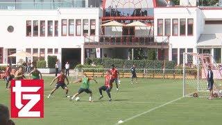 Im Bayern-Training: Die Traumtore von Lewandowski und Kimmich