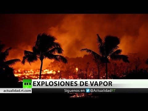 Nueva erupción del volcán Kulauea ilumina el cielo nocturno de Hawái
