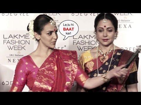 Hema Malini And Esha Deol Get ANGRY At Lakme Fashion Week Organiser
