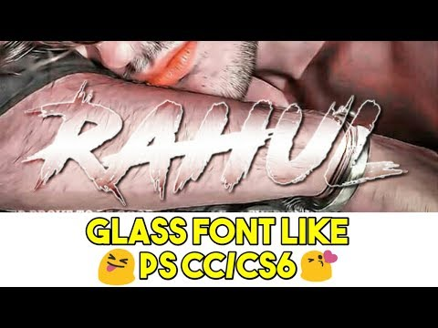 Latest new trick Gradient Glass Font Like Ps cc/cs6 | How to make Gradient Glass font