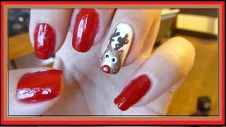 Cute & Easy Christmas Nails: Reindeer
