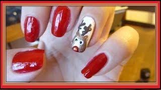 Cute & Easy Christmas Nails: Reindeer