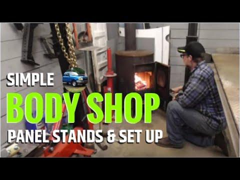 Simple DIY Body Shop Panel Stands, Set Up & Equipment