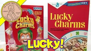 Lucky Charms 1964 Breakfast Cereal Box. They