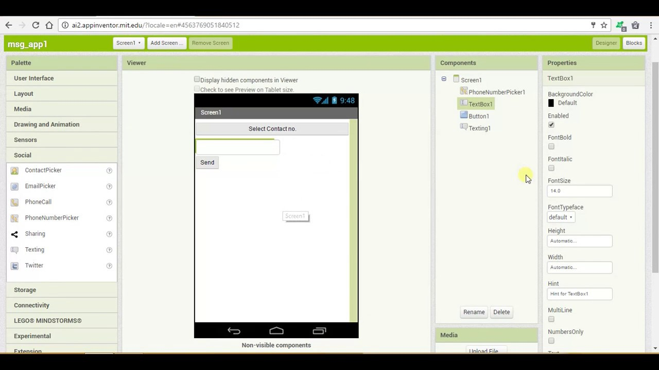 App Inventor Tutorial #2: How To Develop Simple Messaging App In App Inventor