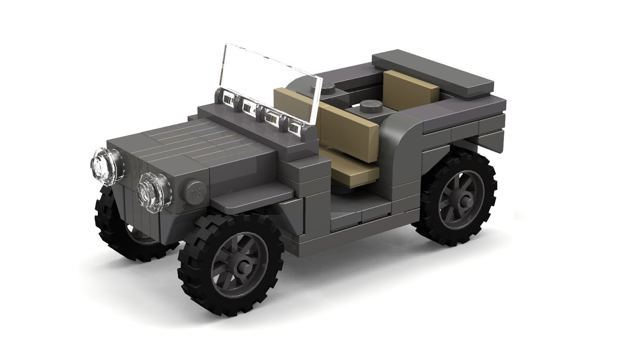 Lego Wwii Willys Mb Jeep Instructions Youtube