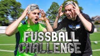 Fußball CHALLENGE mit HAARE SILBER FÄRBEN Bestrafung!