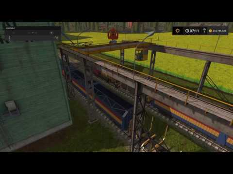 Farming Simulator 17 Train crane.