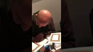 L'artista calligrafo Amjed Al Rifaie a Roma
