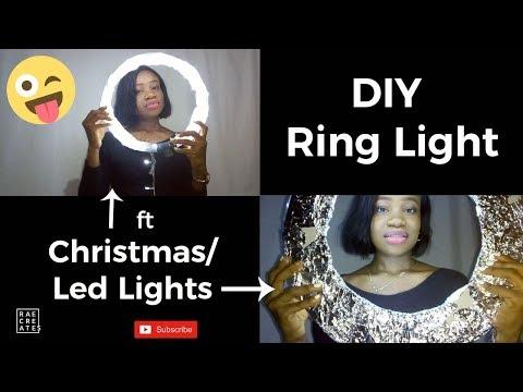 DIY Diva Ring Light........Christmas/ LED Lights Edition