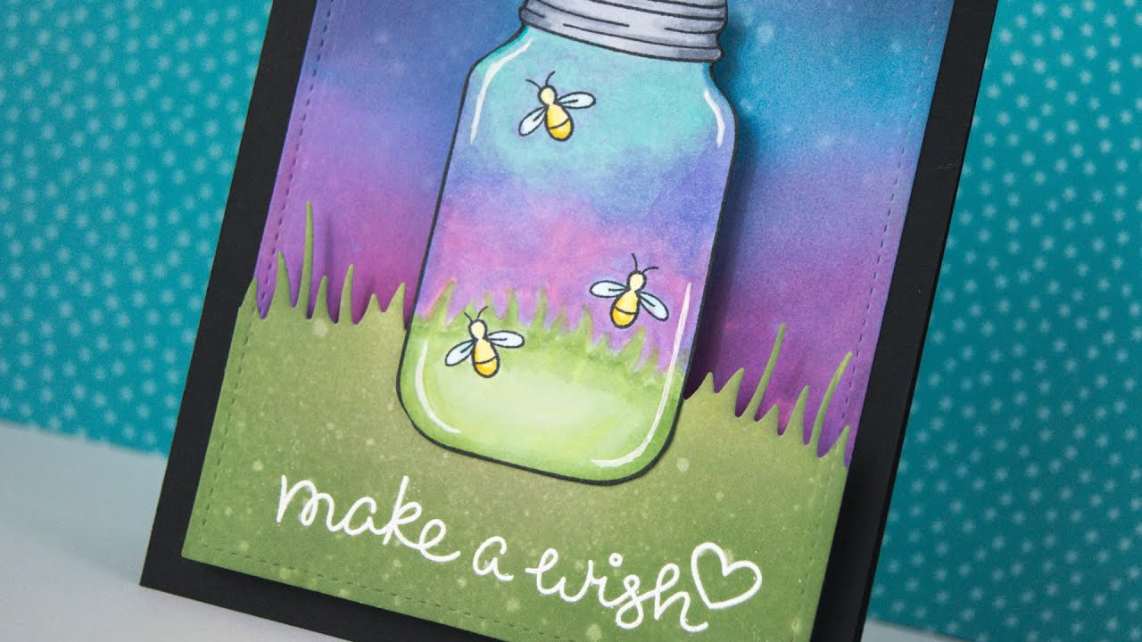 Interactive Fireflies Card That Lights Up With Chibitronics And Lawn
