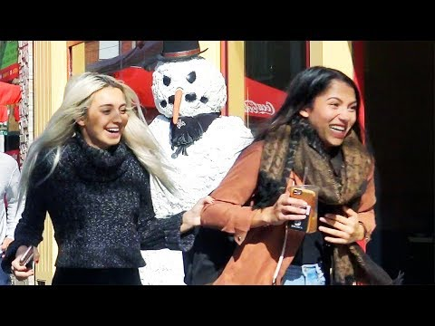 Scary Snowman Hidden Camera Practical Joke - Providence Rhode Island (2017) Episode 5