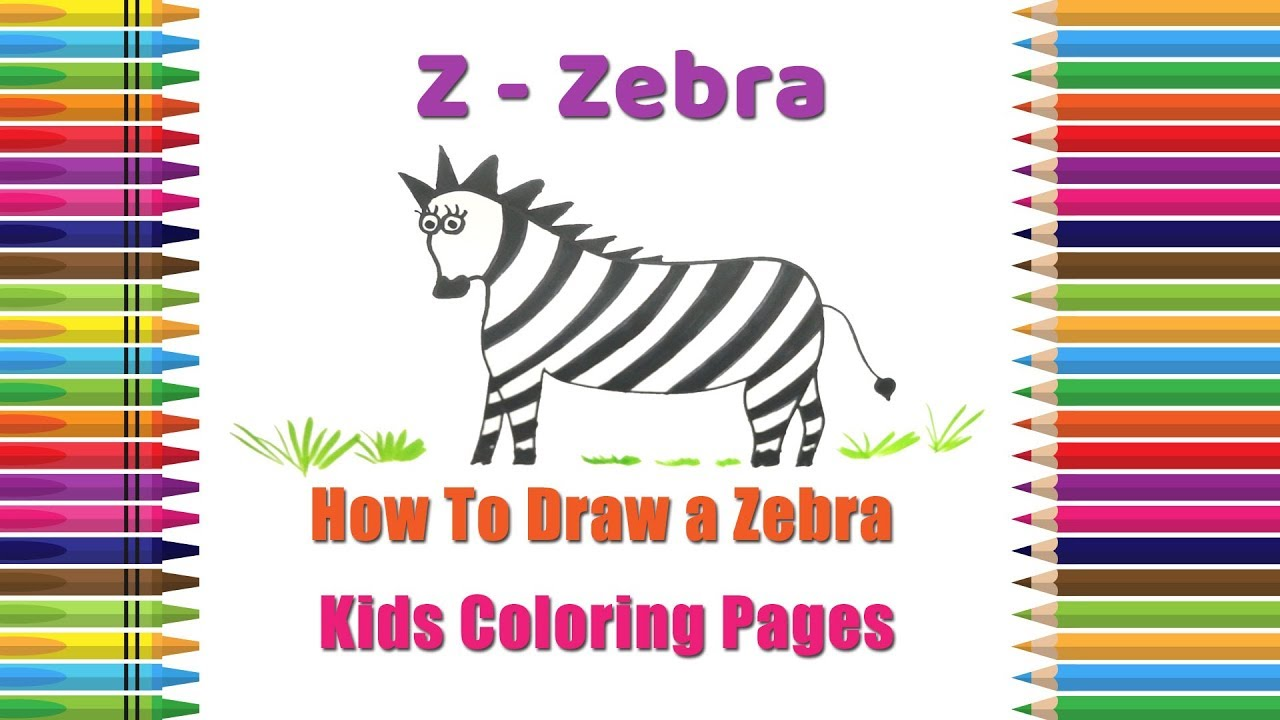 How To Draw A Zebra Coloring Pages