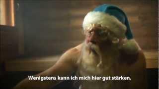 WEIHNACHTSMANN IN DER SAUNA UND IM STRESS 2013 - Weihnachtsgeschenke Sauna- und Badegutscheine