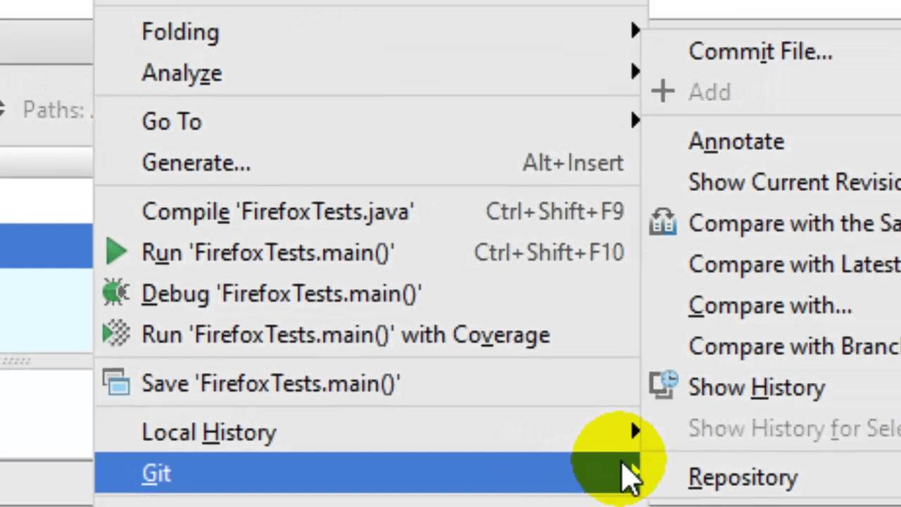 How to view file history in git in Intellij IDEA