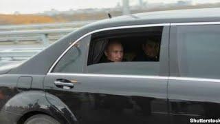 кортеж Путина в Челябинске часть 1. в аэропорт за президентом.