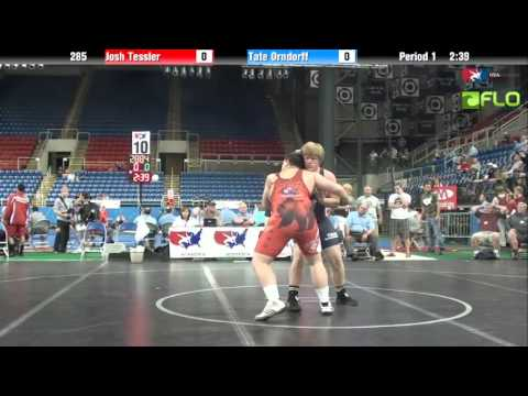 Junior 285 - Josh Tessler (California) vs. Tate Orndorff (Washington)