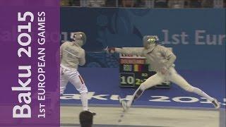 Men's Individual Sabre Gold Medal Match   Fencing   Baku 2015 European