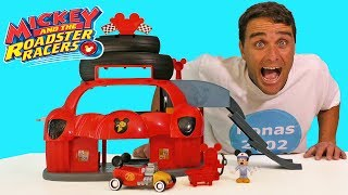 Mickey And The Roadster Racers Garage Playset ! || Disney Toy Review || Konas2002