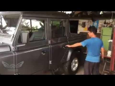 Defender door gap adjustment done & Defender door gap adjustment done - YouTube
