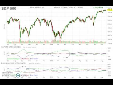 S & P 500 index Wednesday 17/Aug/2016