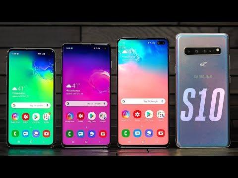 Samsung Galaxy S10 lineup hands-on