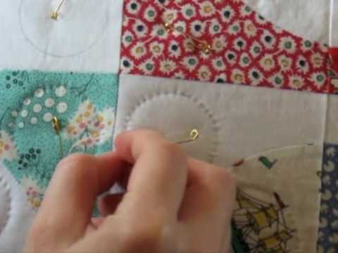Hand Quilting 7 -- Tying Off (The End Knot) - YouTube : hand tying a quilt - Adamdwight.com
