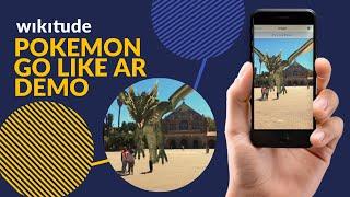 """Pokemon Go like"" GEO Augmented Reality Demo in the Wikitude App"