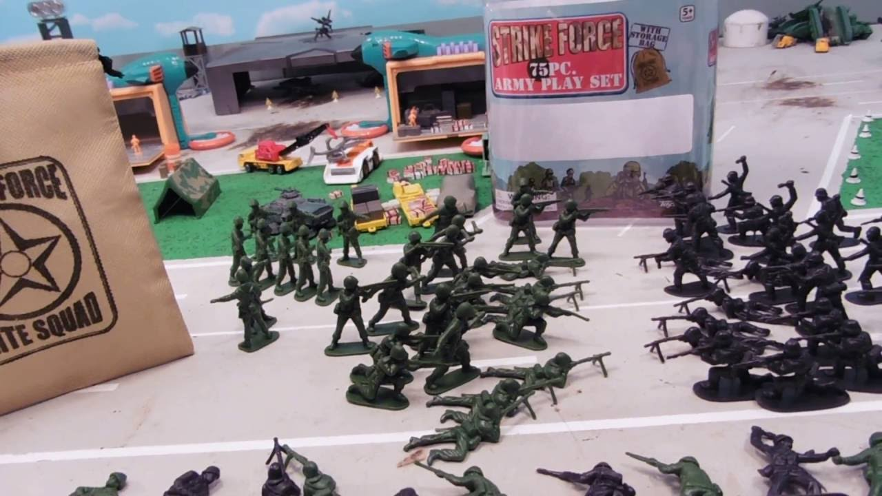 Army Toys Color : Piece strike force army men review youtube