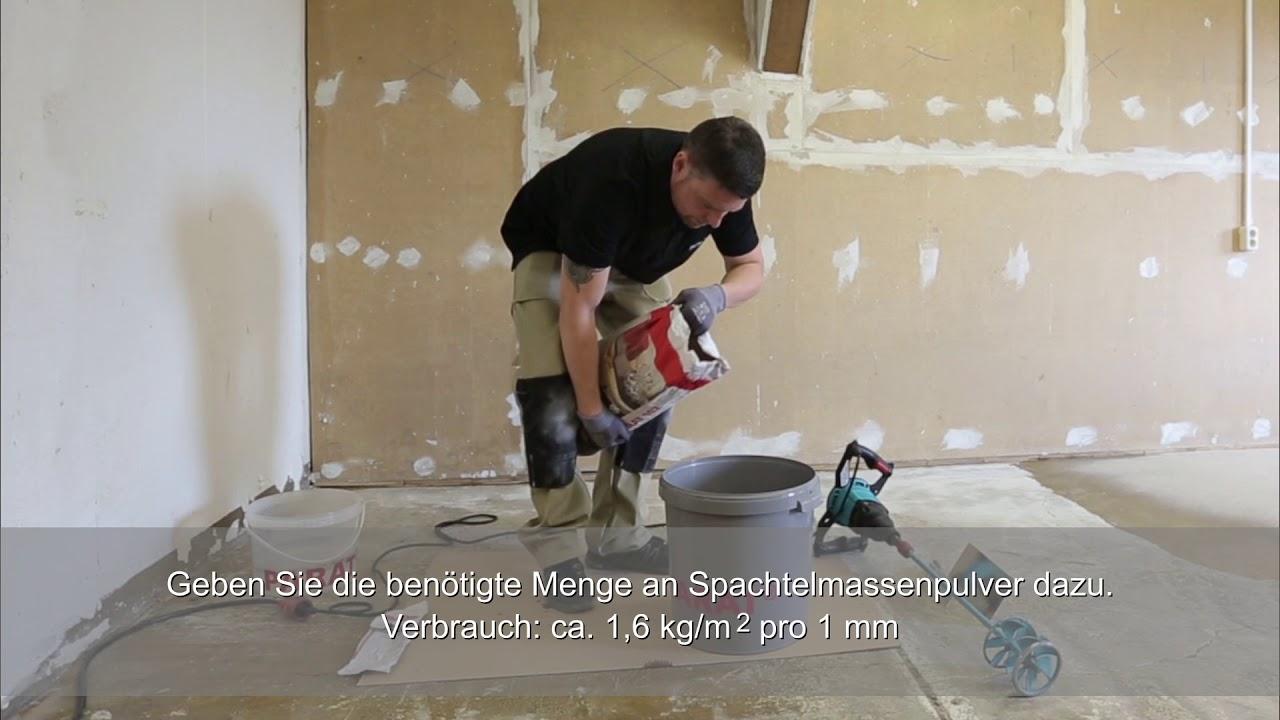 Holzfußboden Spachteln ~ Fußboden spachteln unebenheiten ausgleichen parat youtube