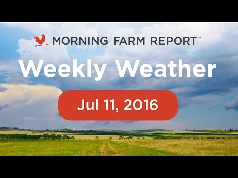 Morning Farm Report Weekly Ag Weather Video - July 11, 2016