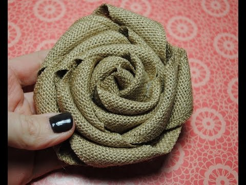 Stampin Up Burlap Ribbon Burlap Rolled Flower Tutorial