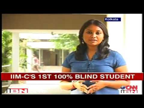 Visually impaired student makes it to IIM