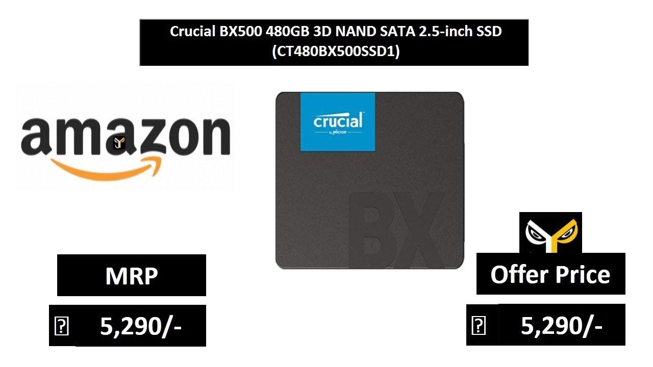 Crucial BX500 480GB 3D NAND SATA 2 5-inch SSD (CT480BX500SSD1)