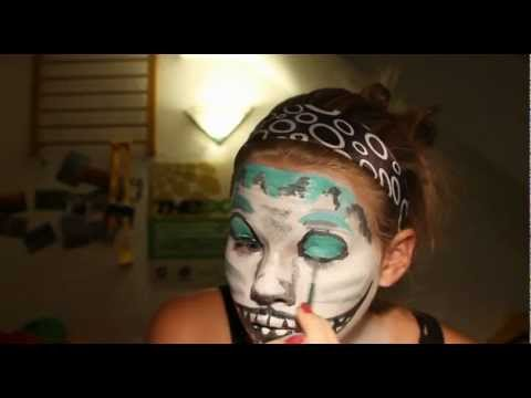 tutorial facepainting grinsekatze aus alice im wunderland youtube. Black Bedroom Furniture Sets. Home Design Ideas