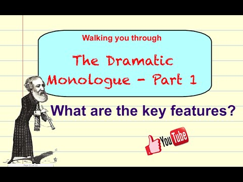 What is a Dramatic Monologue? Part 1 - Poetry tutorial video GCSE/A-Level