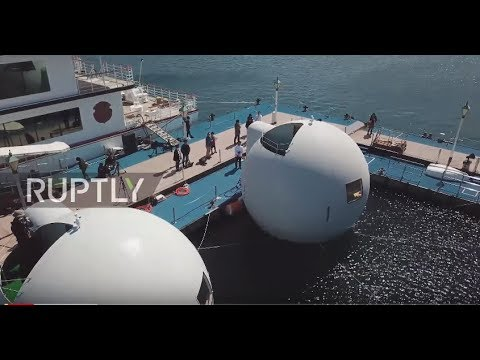 Japan's FLOATING HOTEL protects guests against tsunamis