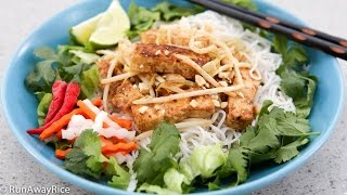 Lemongrass Tofu And Rice Noodles (bun Dau Hu Xao)