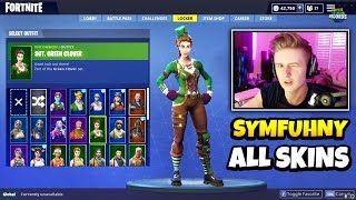 Symfuhny Shows ALL FORTNITE SKINS In His Locker (Rare Skins) | Fortnite Daily Funny Moments Ep.334