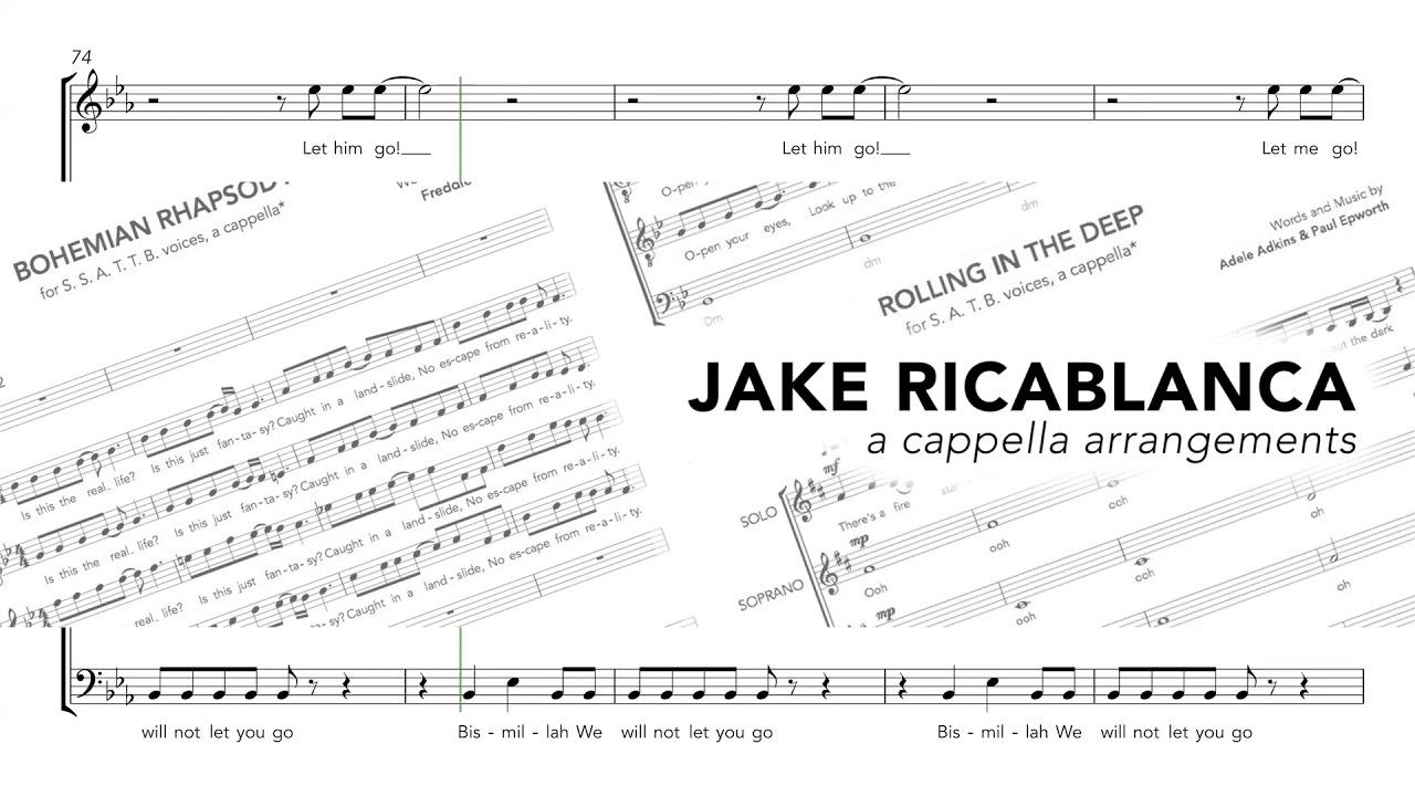 Bohemian Rhapsody - Queen (a cappella arrangement) - Jake Ricablanca