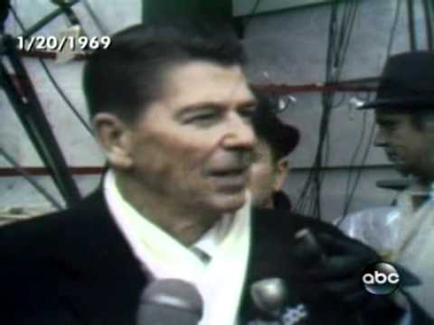 Reagan interviewed at Nixon's first Inaguration