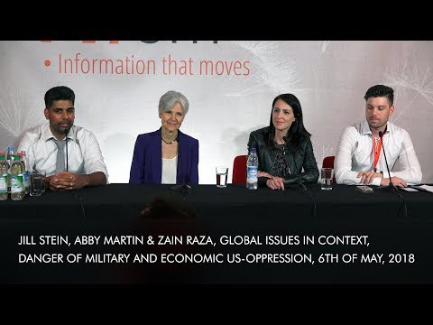 Jill Stein, Abby Martin, Zain Raza, Global Issues in Context, Danger military-economic US-oppression