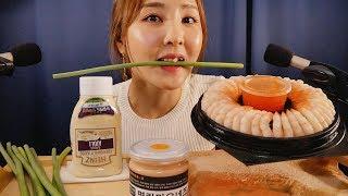 오도독 베트남 깐새우 & 마늘종 이팅 ASMR|Shrimp Ring Eating sounds|구입처 11번가