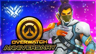 🔴 Overwatch Anniversary Event 2019! Rank #1 NA Peak 4646 SR! New Skins & Overwatch Update!
