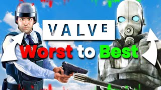 Valve Games From Worst To Best