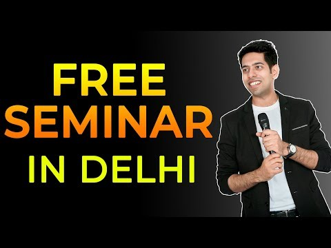 Free Motivational Seminar in Delhi -  Himeesh Madaan