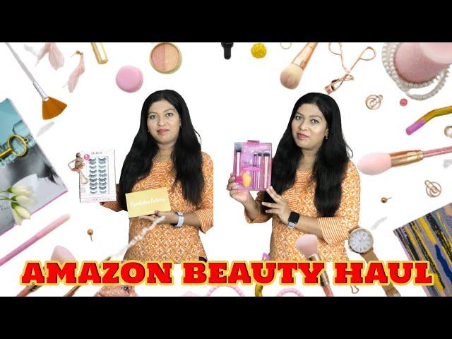 *HUGE Amazon Beauty Haul*10 pairs of magnetic false eyelashes only @ 1000/- #prititrendz #amazonhaul